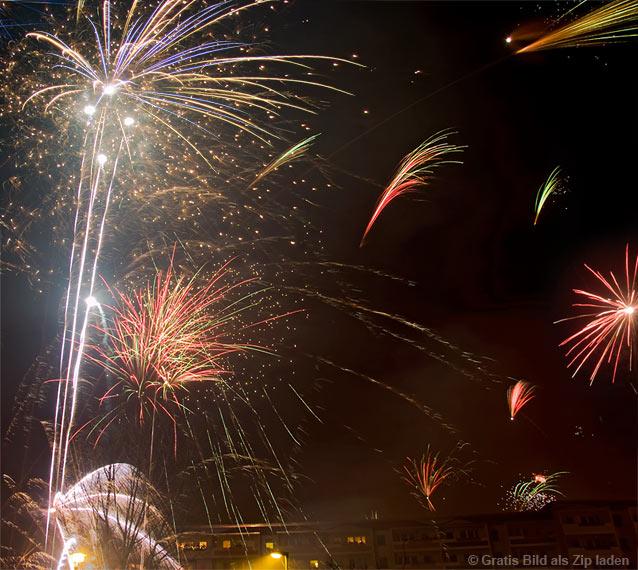 Feuerwerk - Farben und Formen