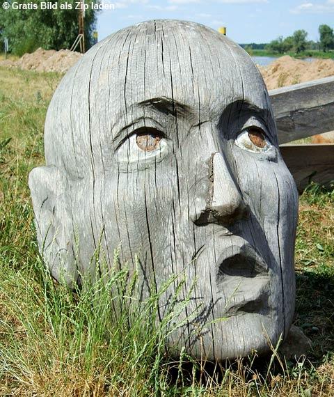 Holzkopf an der Oder - ungewöhnlicher Fund | | 1A-Photoshop