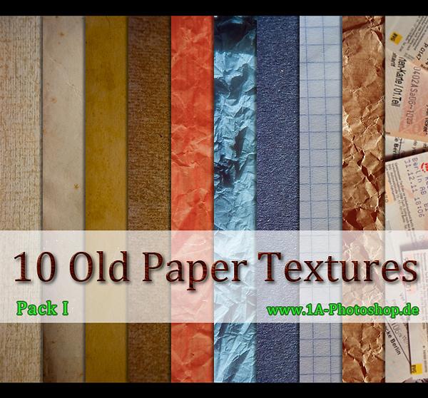 Old Paper Textures - alte Papier Texturen gratis