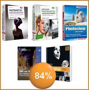 5 Profi Photoshop-Bücher für nur 33,33 Euro
