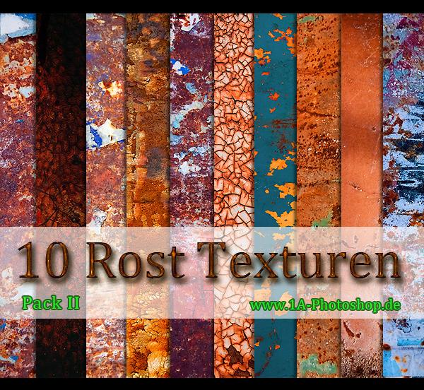free rust Textures Pack II - 10 rostige Texturen gratis downloaden