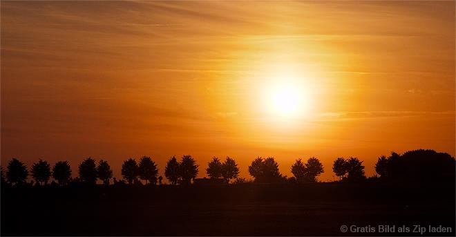 Sonnenuntergang hinterm Mörderberg