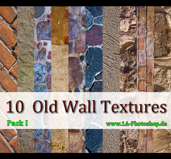 Wand und Mauertexturen gratis downloaden - old wall textures for free download