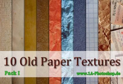 10 alte Papier Texturen