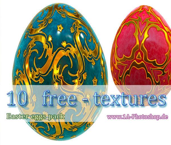 10 Gratis Texturen - Ostereier